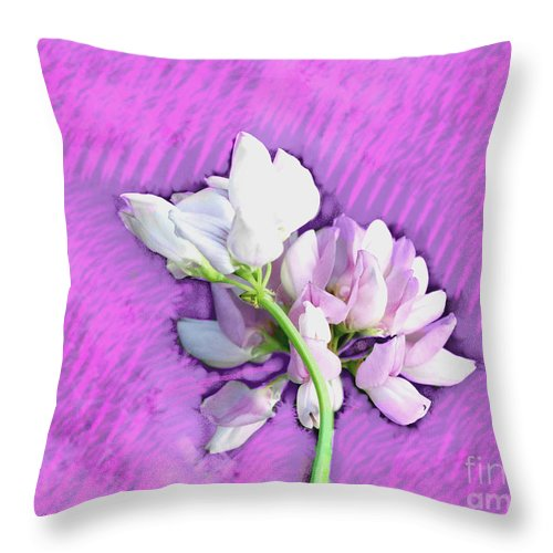 Flower Throw Pillow featuring the photograph Spring Blossom by Gena Weiser