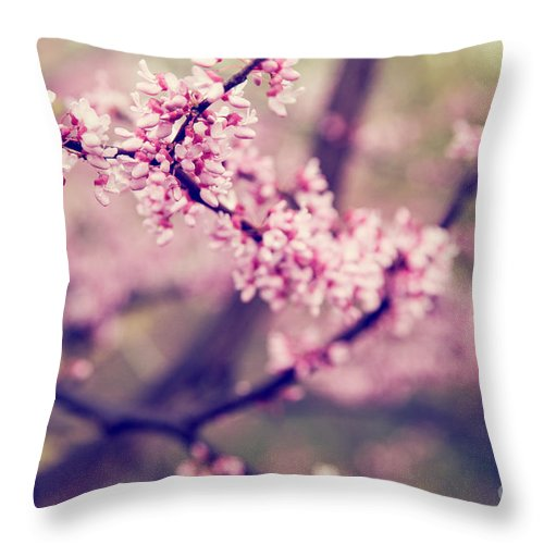 Pink Throw Pillow featuring the photograph Spring Blossoms II by Mary Smyth