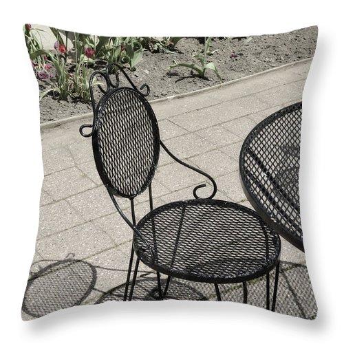Black Throw Pillow featuring the photograph Spring Break by Birgit Tyrrell