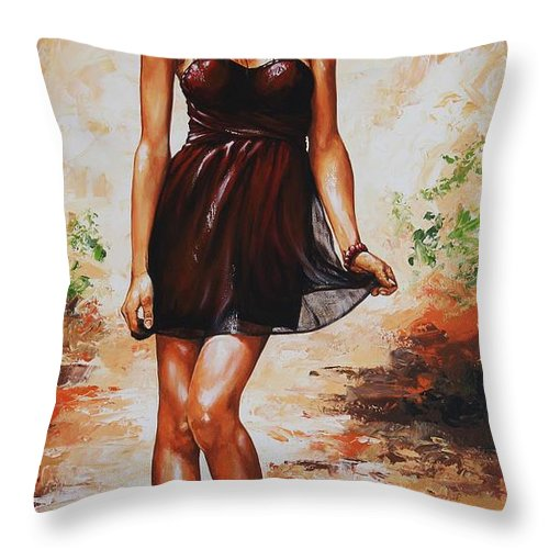 Spring Throw Pillow featuring the painting Spring Breeze 04 by Emerico Imre Toth