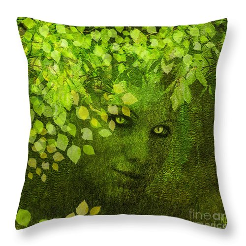 Spring Throw Pillow featuring the digital art Spring Coming by Neil Finnemore
