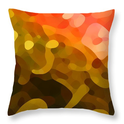 Abstract Throw Pillow featuring the painting Spring Day by Amy Vangsgard