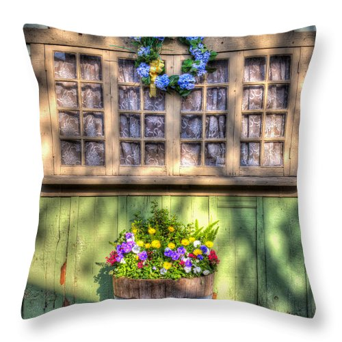 Aged Throw Pillow featuring the photograph Spring Delight by Heidi Smith