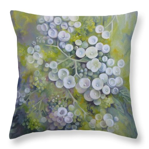 Spring Throw Pillow featuring the painting Spring Dream by Elena Oleniuc
