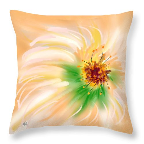 Ipad Throw Pillow featuring the painting Spring Flower by Angela Stanton