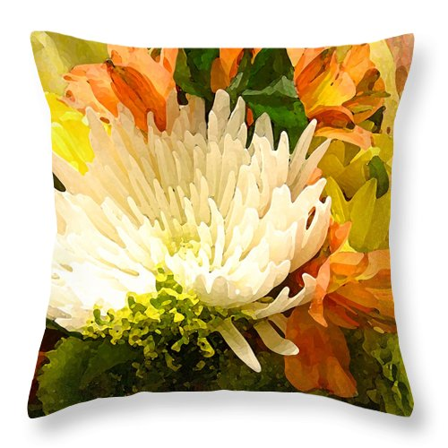 Roses Throw Pillow featuring the painting Spring Flower Burst by Amy Vangsgard