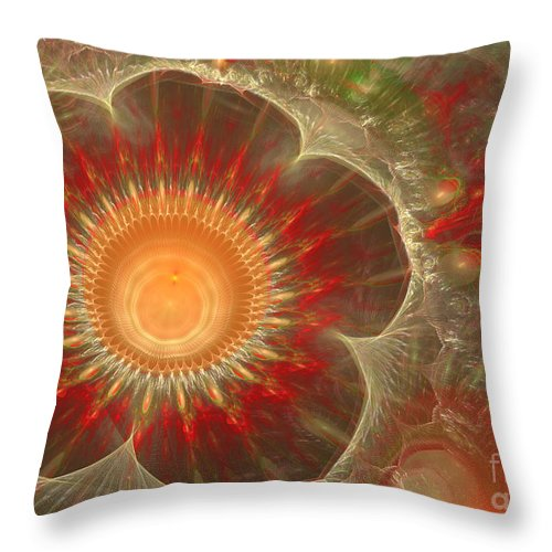 Abstract Throw Pillow featuring the digital art Spring Flower by Martin Capek