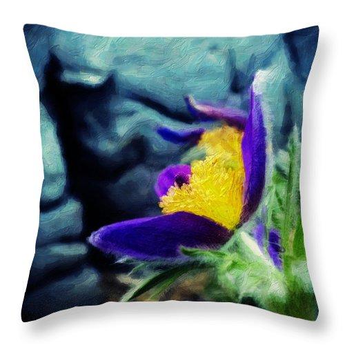Spring Throw Pillow featuring the digital art Spring Handout by Jo-Anne Gazo-McKim