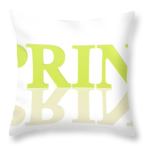 Spring Throw Pillow featuring the photograph Spring Reflected by Amanda Elwell