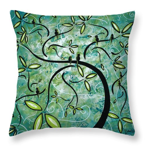 Wall Throw Pillow featuring the painting Spring Shine By Madart by Megan Duncanson