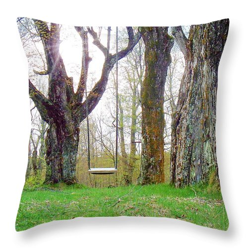 Photography Throw Pillow featuring the photograph Spring's First Green by Joy Nichols