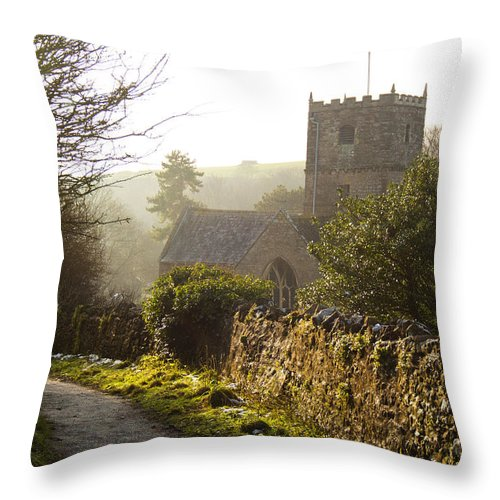 St Andrew's Church Throw Pillow featuring the photograph St Andrew's Church Clevedon by Rachel Down
