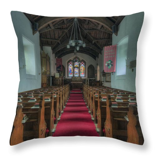 Church Throw Pillow featuring the photograph St Hilary's by Ian Mitchell