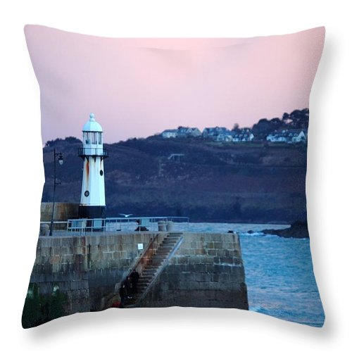 St Ives Throw Pillow featuring the photograph St Ives by Jenny Potter