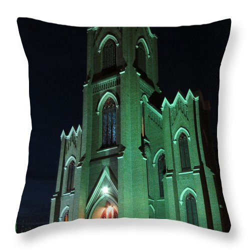 Vancouver Washington Throw Pillow featuring the photograph St James Catholic Church In Vancouver Washington by Elizabeth Rose