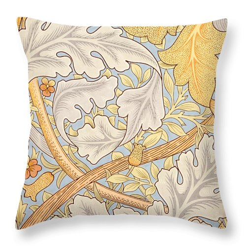 St James Throw Pillow featuring the painting St James Wallpaper Design by William Morris