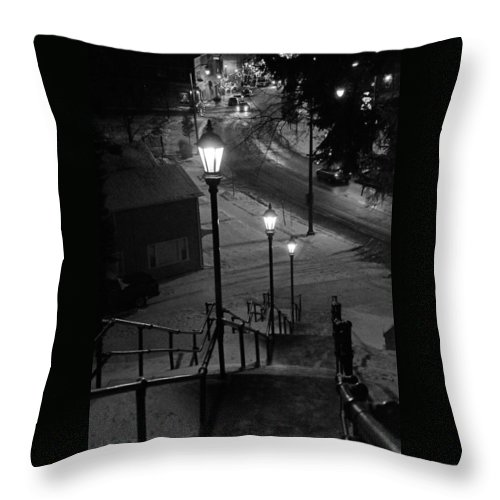 St Throw Pillow featuring the photograph St. Mary's Stairs by Susan McMenamin