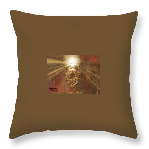 Sacred Throw Pillow featuring the photograph St. Michael by Candee Lucas