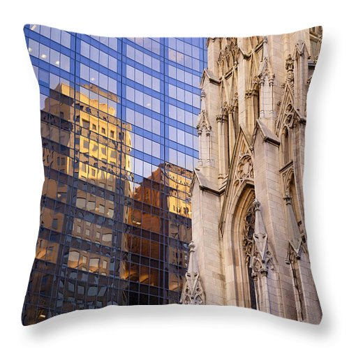 Saint Throw Pillow featuring the photograph St. Patricks by Brian Jannsen