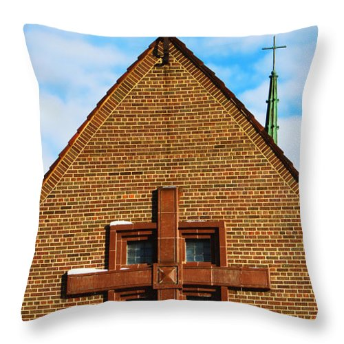 St Patricks Church Throw Pillow featuring the photograph St Patricks Church by Sylvia Thornton