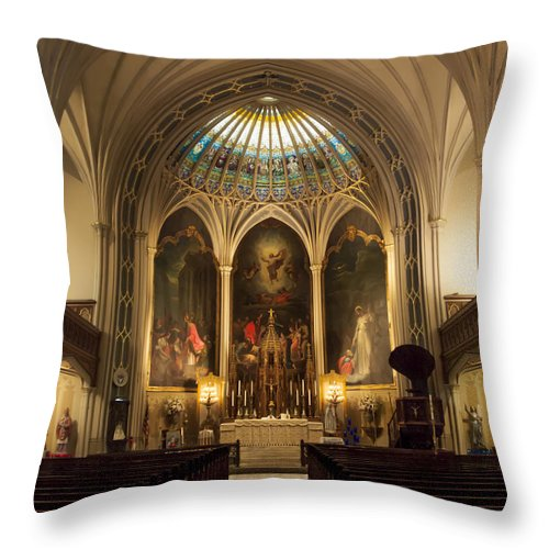 Throw Pillow featuring the photograph St Patricks II by Tony Tribou