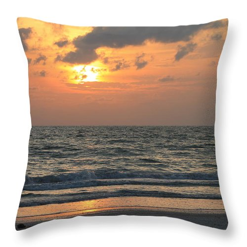 St. Pete Beach Throw Pillow featuring the photograph St. Pete Sunset by Robin Raible