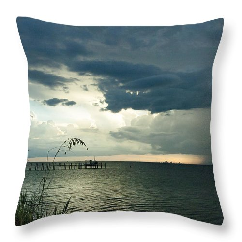 Seascape Throw Pillow featuring the photograph St. Petersburg On The Horizon by Norman Johnson