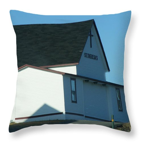 Church Throw Pillow featuring the photograph St. Theresa's Church by Barbara Griffin