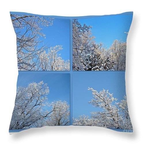 Snow Throw Pillow featuring the photograph St. Valentine's Day Snowstorm by Mother Nature