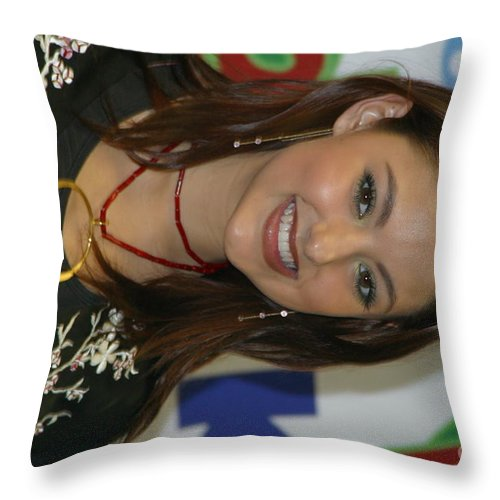 Singer Throw Pillow featuring the photograph Singer Stacie Orrico by Concert Photos