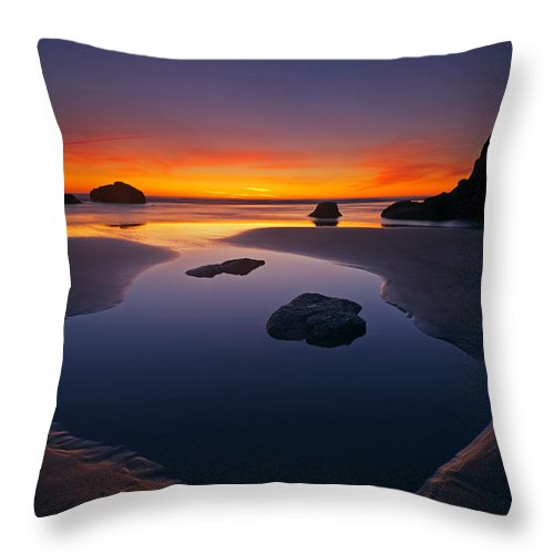 Stacks Throw Pillow featuring the photograph Stacks and Stones by Mike Dawson