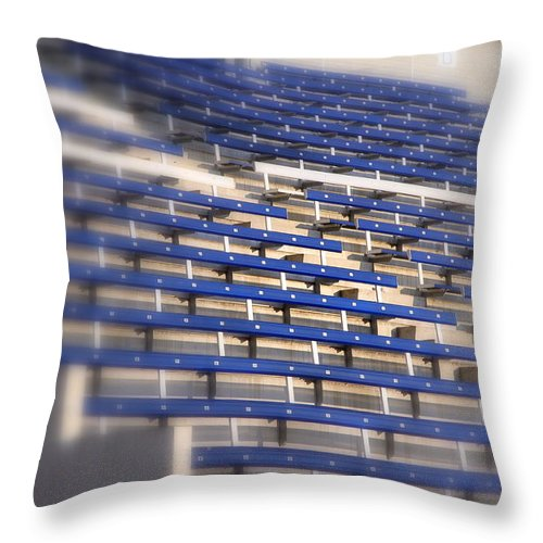 Stall Throw Pillow featuring the photograph Stadium Stalls by Valentino Visentini