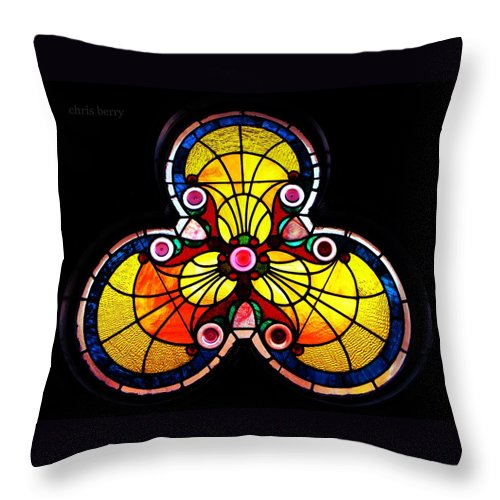 Window Throw Pillow featuring the photograph Stained Glass by Chris Berry
