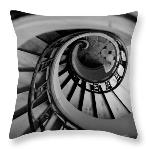 B&w Throw Pillow featuring the photograph Staircase by Sebastian Musial