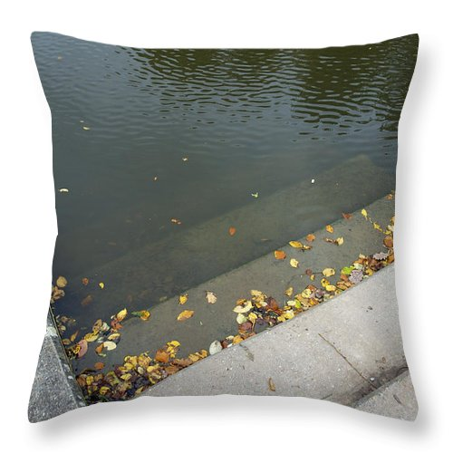Stair Throw Pillow featuring the photograph Stairs Leading Into Water by Matthias Hauser