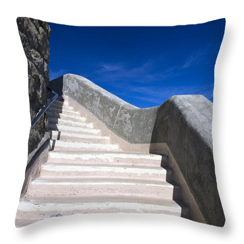 Travel Throw Pillow featuring the photograph Stairway At Mount Diablo State Park by Jason O Watson