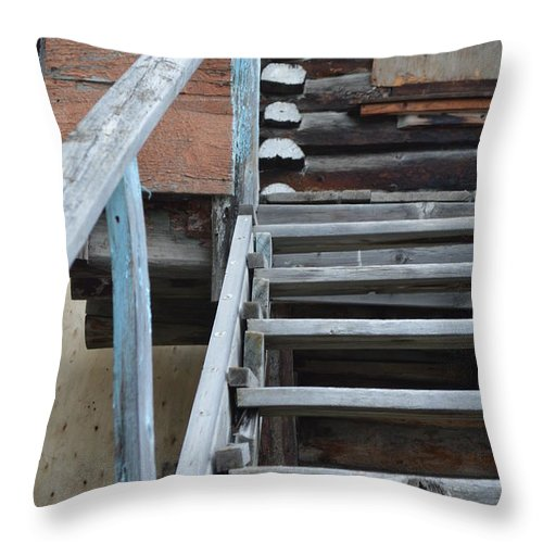 Stairway To Heaven Throw Pillow featuring the photograph Stairway To Humdrum by Brian Boyle