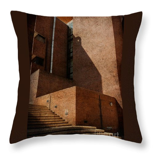 Stairs Throw Pillow featuring the photograph Stairway To Nowhere by Lois Bryan
