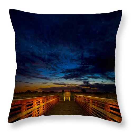 Sunset Throw Pillow featuring the photograph Stairway To The Stars by Mark Andrew Thomas
