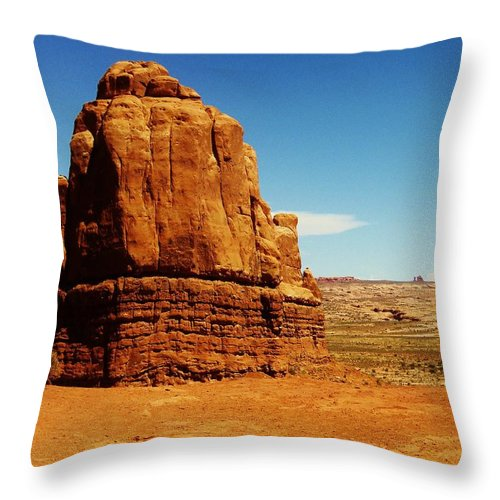 Landscape Throw Pillow featuring the photograph Stand Alone by Ashley Casterline