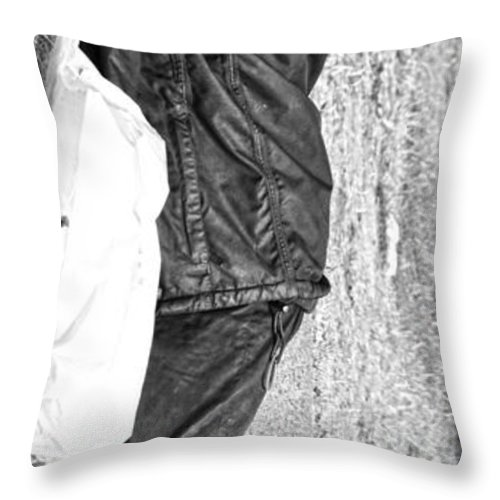 Street Photography Throw Pillow featuring the photograph Stand Up by The Artist Project