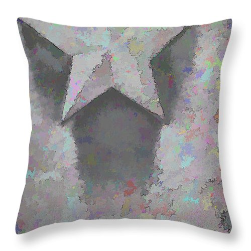 Star Throw Pillow featuring the photograph Star by Kristi Swift