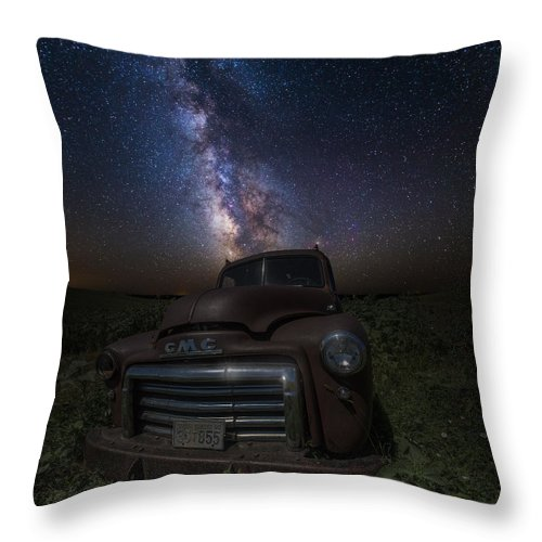 Stardust Throw Pillow featuring the photograph Stardust And Rust Gmc by Aaron J Groen