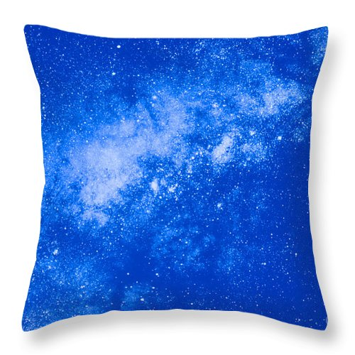 Astronomy Throw Pillow featuring the photograph Starfield by John Giannicchi