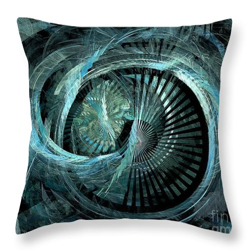 Abstract Throw Pillow featuring the digital art Stargate 431-08-13 Marucii by Marek Lutek