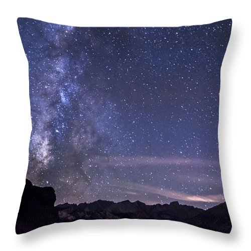 Night Throw Pillow featuring the photograph Starry Night by Cat Connor