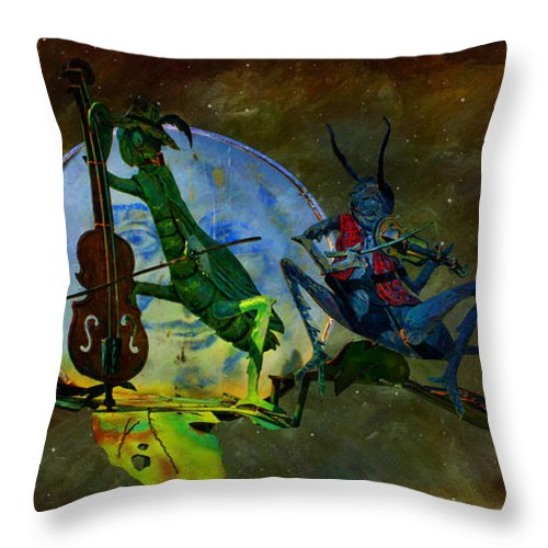 Starry Summer Night Throw Pillow featuring the photograph Starry Summer Night by Liane Wright