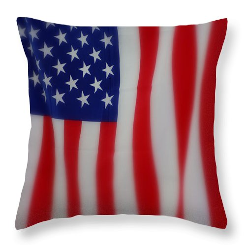 Stars And Stripes Throw Pillow featuring the photograph Stars And Stripes by Patti Whitten