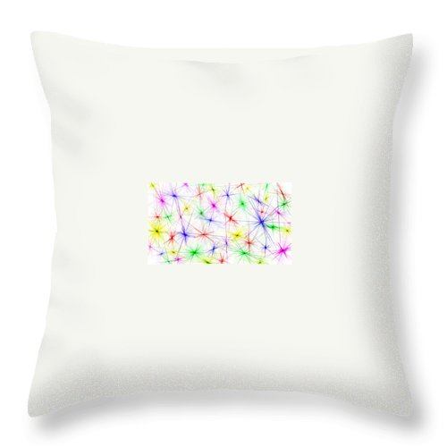 Colors Throw Pillow featuring the painting Stars Are The Flowers Of Heaven by Bruce Nutting