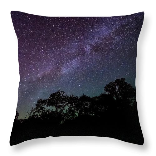 Stars At The Hundred Acre Wood Throw Pillow featuring the photograph Stars At The Hundred Acre Wood by David Morefield